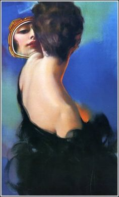 Woman with Mirror, Rolf Armstrong