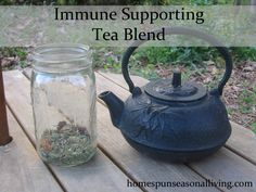 Celebrate National Hot Tea Month by making up a batch of this Immune Supporting Tea Blend.