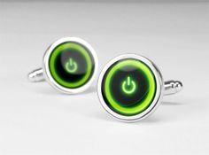 Xbox 360 power button cufflink