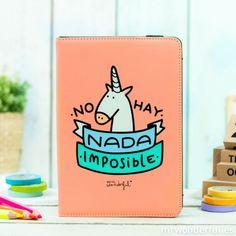 Funda salmón universal para tablet de 7''a 7,9'' y iPad Mini