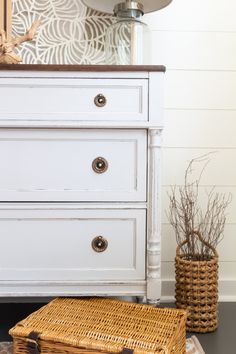 We are going to show you how to fix broken veneer on furniture and paint them after, so the next time you spot that curb side find or love the lines of the one you see at the Garage Sale, you will be able to tackle the project without any worry whatsoever. #PaintedFurniture #FusionMineralPaint #DIY #HomeDecor #DIYInspiration