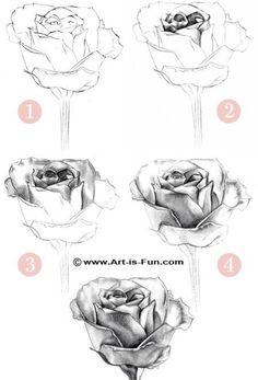 Rose drawing idea
