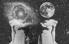 Vintage Black and White | art, black and white, space, vintage - inspiring picture on Favim.com
