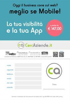 Dal sito internet www.cercaziende.it è facilissimo scaricare il modello per richiedere la tua app!