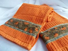 Hand Decorated Towels Autumn Towel Set Set of by WexfordTreasures, $12.99