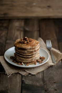 Brown Butter and Pecan Pancakes | Naturally Ella