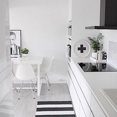 One of my all time faves - this kitchen belongs to the fab @fregnate - #blackandwhite #kitchenstyle #piawallen