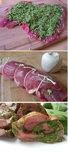 Spinach and Parmesan Stuffed Flank Steak | Homemade Food Recipes