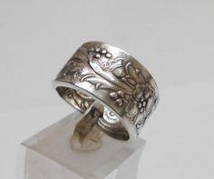 Nostalgischer Ring mit Blumen Gr. 20,8 mm, SR469 von Atelier Regina auf DaWanda.com