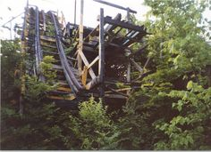 Burnt coaster at Idora Park in Ohio