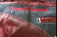 Recent jacket lining and #custom embroidery www.williampollock.clothing