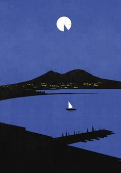 Poster design by Alessandro Gottardo for the 34th America's Cup in Naples, 2012