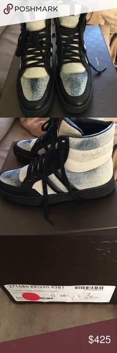 Gucci denim Gucci washed marble st denim soft light blue. New never used Gucci sneakers super cute. Size 38.5. 🚫🚫No low ball offers and no trades 🚫🚫100 % real Gucci Gucci Shoes Sneakers