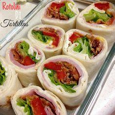 Rotolini freddi di tortillas farciti