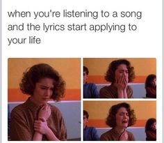 """This was literally me an hour  ago when I listened to """"I hate u, I love u,"""" all the way through for the first time"""
