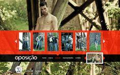 Desenvolvimento do site da Coleção Inverno 2012 da Oposição Jeans, marca do Grupo Latreille.