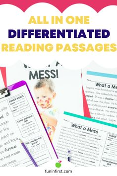 These Monthly Differentiated Reading passages are my go-to during small group instruction or during our intervention/enrichment time. I love that almost all of my students can read about the same topic and work on the same comprehension skill, but at their own reading level. Small Group Reading, Reading Groups, Reading Levels, Reading Skills, Reading Response, Reading Fluency, Reading Passages, Guided Reading, Writing Goals