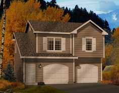 Two Car Garage Apartment - 2245SL   Carriage, Narrow Lot, 2nd Floor Master Suite, CAD Available, PDF   Architectural Designs