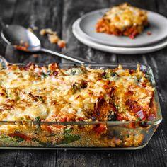 Cheddar, Lasagna, Quinoa, Veggies, Vegetarian, Pasta, Ethnic Recipes, Grains, Rice