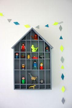 house-shaped curio shelf