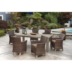 Vienna 7 Piece Dining Set Costco $1799 Without Fire Pit Though