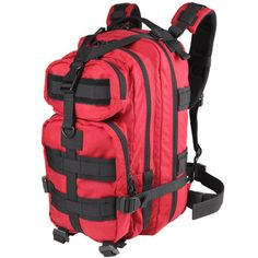 Condor Outdoor Compact Modular Style Assault Pack 126-010 Red on eBay!