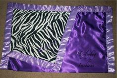 Purple Zebra Print Blankie - need to find material like this for Harlow