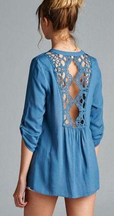 Gracie Shirt in London Blue:
