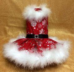 Little Mrs Santa Dog Dress