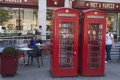 The infamous London phone booths