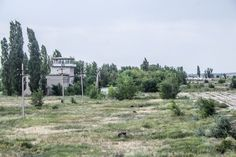 Russian abandoned air force base control tower