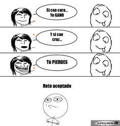Cara o Cruz - mundomeme.co #memes Memes, Comics, Faces, Meme, Cartoons, Comic, Comics And Cartoons, Comic Books, Comic Book