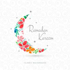 Ramadan kareem greeting card with moon design Free Vector Diy Eid Cards, Ramadan Cards, Islam Ramadan, Ramadan Greetings, Eid Mubarak Greetings, Ramadan Mubarak, Eid Mubarak Images, Eid Mubarak Vector, Eid Mubarak Greeting Cards