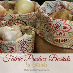 Not sure how to keep potatoes, onions and garlic handy and yet, tidy? Make a burlap produce basket. This post has a full tutorial so you can make one.
