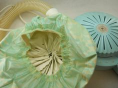 classic midcentury hair dryer with bonnet by HandyGalStudios, $32.00..yesiree..mine was pink...scary