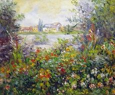 Monet - Flower beds at Vetheuil