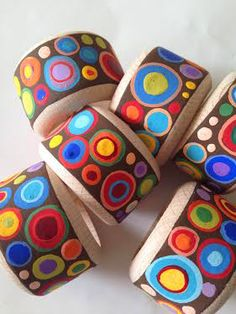 Hand Painted Wooden Napkin Rings, Set of 6 | L'Essenziale Boutique