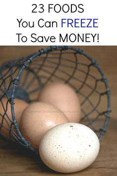 23 Foods You Can Freeze To Save Money A great way to save money is to buy your favourite foods when they are on sale or in season and to freeze them for later use! There are many foods I bet you we…