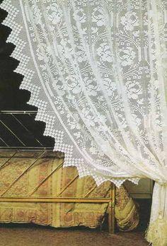 Crochet curtain   Ağ İşi Perde   Dantel