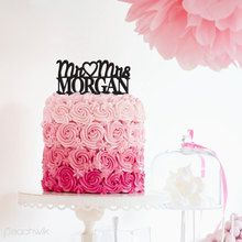 Custom Name Wedding Cake Topper