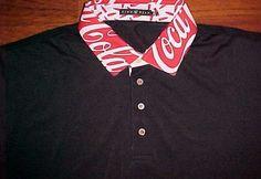 Coca-Cola Collar Finn Ryan Luxury Brand Employee Men's Black Golf Polo Shirt XL #FinnRyan #PoloRugby
