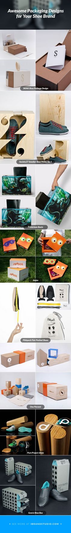 Awesome Packaging Designs for your Shoe Brand, Get the inspiration today! #packaging