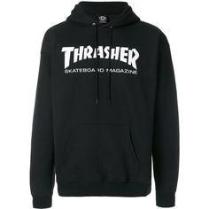 Thrasher hoodie (415 RON) ❤ liked on Polyvore featuring men's fashion, men's clothing, men's hoodies, black, mens sweatshirt hoodies and mens hoodies