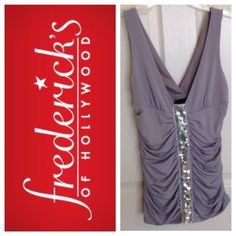 Fredrick's of Hollywood light grey top NWT. Originally $44 but I bought for $30. Fredricks of Hollywood Tops
