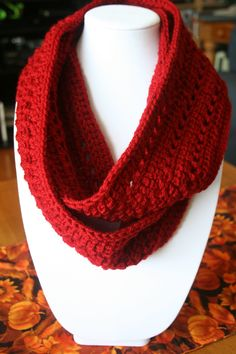 Infinity scarf. Many colors. www.facebook.com/lefthandcrochet