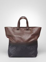Cioccolato Tourmaline Intrecciato Light Calf Degrade' Tote