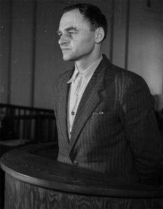 Witold Pilecki na sali sądowej