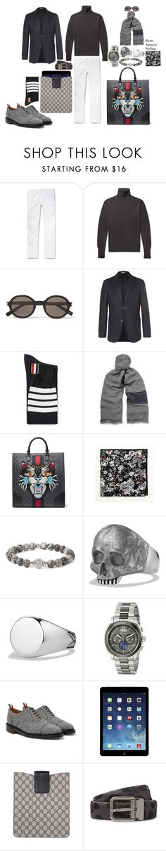 """F/W 17"" by spencer-clowers ❤ liked on Polyvore featuring Massimo Alba, Officine Générale, Yves Saint Laurent, Thom Browne, Gucci, Paul Frank, MIANSAI, David Yurman, Bulova and Dolce&Gabbana"