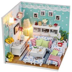 DIY Dollhouse Miniature Handcraft Kit Birthday Gifts by UniTime