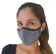 """N. 1 choice for the fashion-forward conscious citizen who desire a cool looking airmask with active carbon filter and PM 2.5 level protection. Bio-Shield filter defend against all air borne viruses n inside lining with organic Bamboo fabric with natural antimicrobial bio-agent """"Bamboo Kun"""" for a natural antibacterial protection. If you stare at the mask for some time it will appears as if the pattern in it are moving, it is of course an optical illusion due to the geometric fractal design…"""